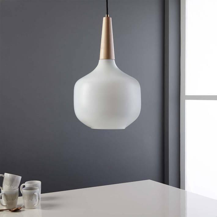 Scandinavian Wood Pendant | West Elm In Most Popular Scandinavian Pendant Lighting (#14 of 15)