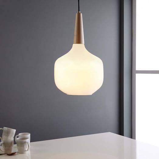 Scandinavian Wood Pendant | West Elm Inside 2018 Scandinavian Pendant Lighting (#15 of 15)