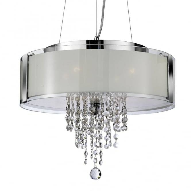 Searchlight 7824 4Cc | Pendants 4 Light Polished Chrome Crystal For Most Up To Date Crystal Pendant Lights Uk (#15 of 15)