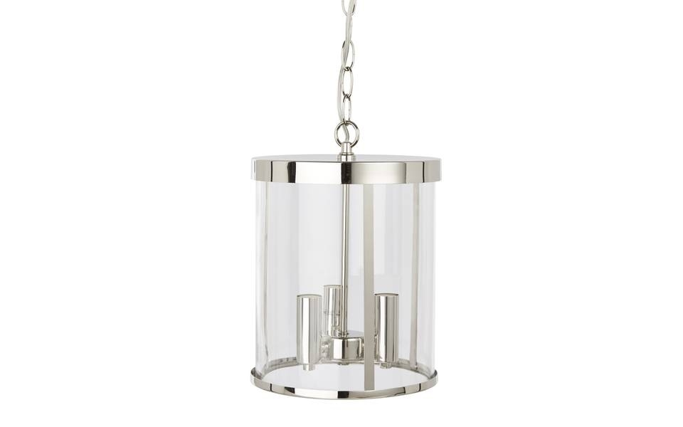 Selbourne Nickel Pendant Light | Laura Ashley For Most Up To Date Chrome Pendant Lights (#13 of 15)
