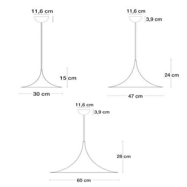 Semi Pendant Light 30Cm | Shop Online At Ferriousonline.co (View 7 of 15)