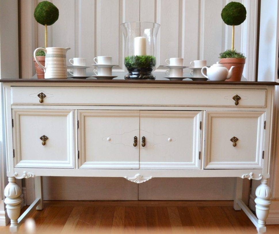 Sideboard : 37 Striking White Buffets And Sideboards Picture Regarding White Distressed Sideboards (View 10 of 15)