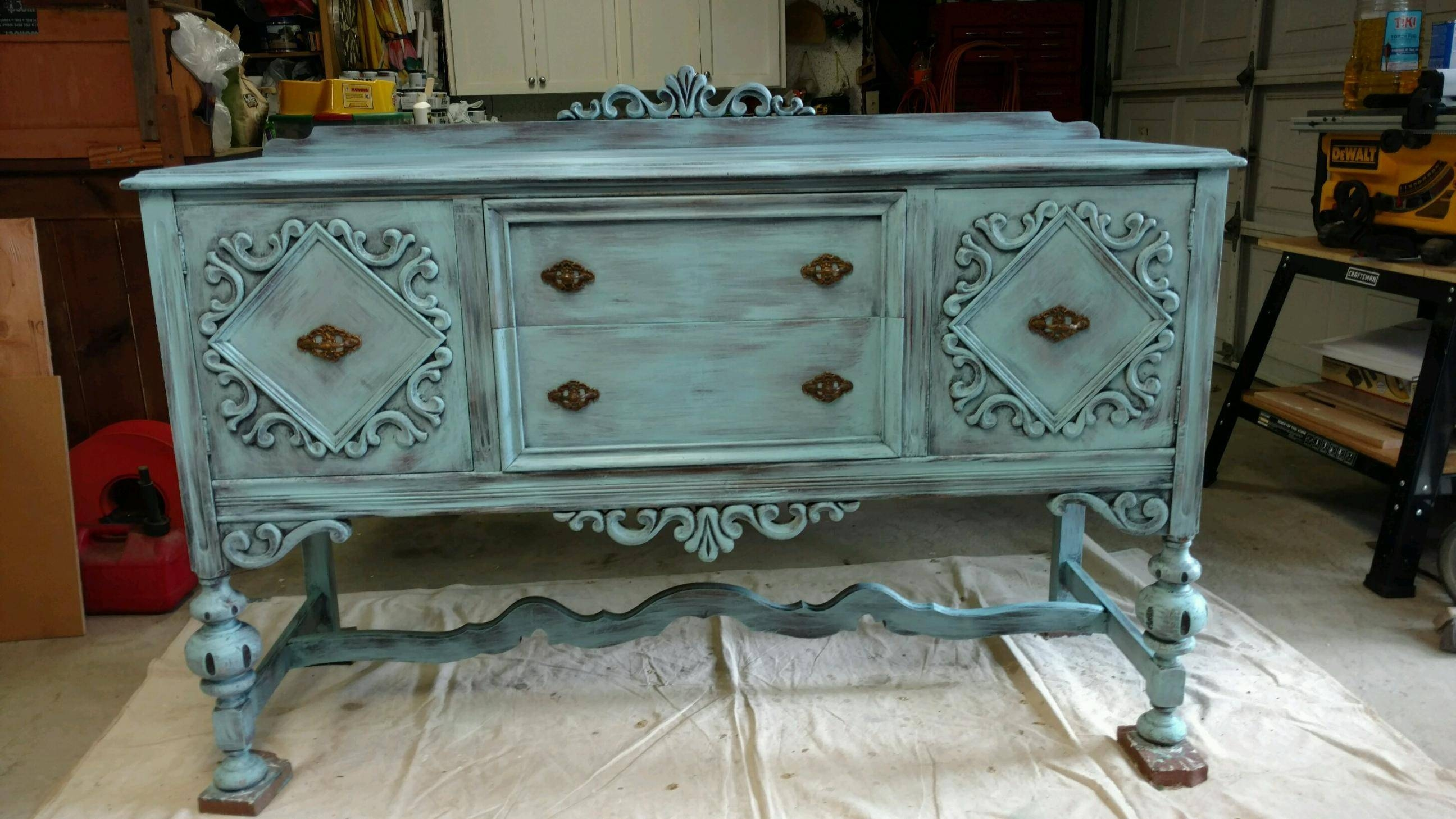 Sideboard : 46 Unusual Distressed Sideboards And Buffets Picture Inside Distressed Sideboards And Buffets (#10 of 15)