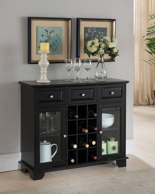 Sideboard : Elegant Black Sideboard Buffet Cabinet Breathtaking In Elegant Black Sideboards And Buffets (View 8 of 15)