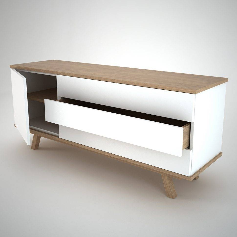 Sideboard : Low Wooden Sideboard Sideboards Astounding Solid Wood In White And Wood Sideboards (#8 of 15)