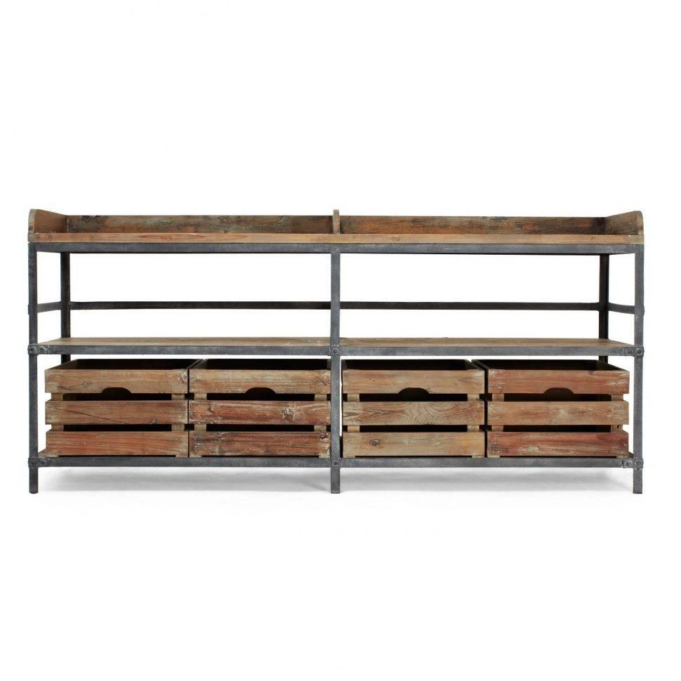 Sideboard : Metal Sideboard Furniture Sideboards Rustic Reclaimed For Metal Sideboard Furniture (#14 of 15)