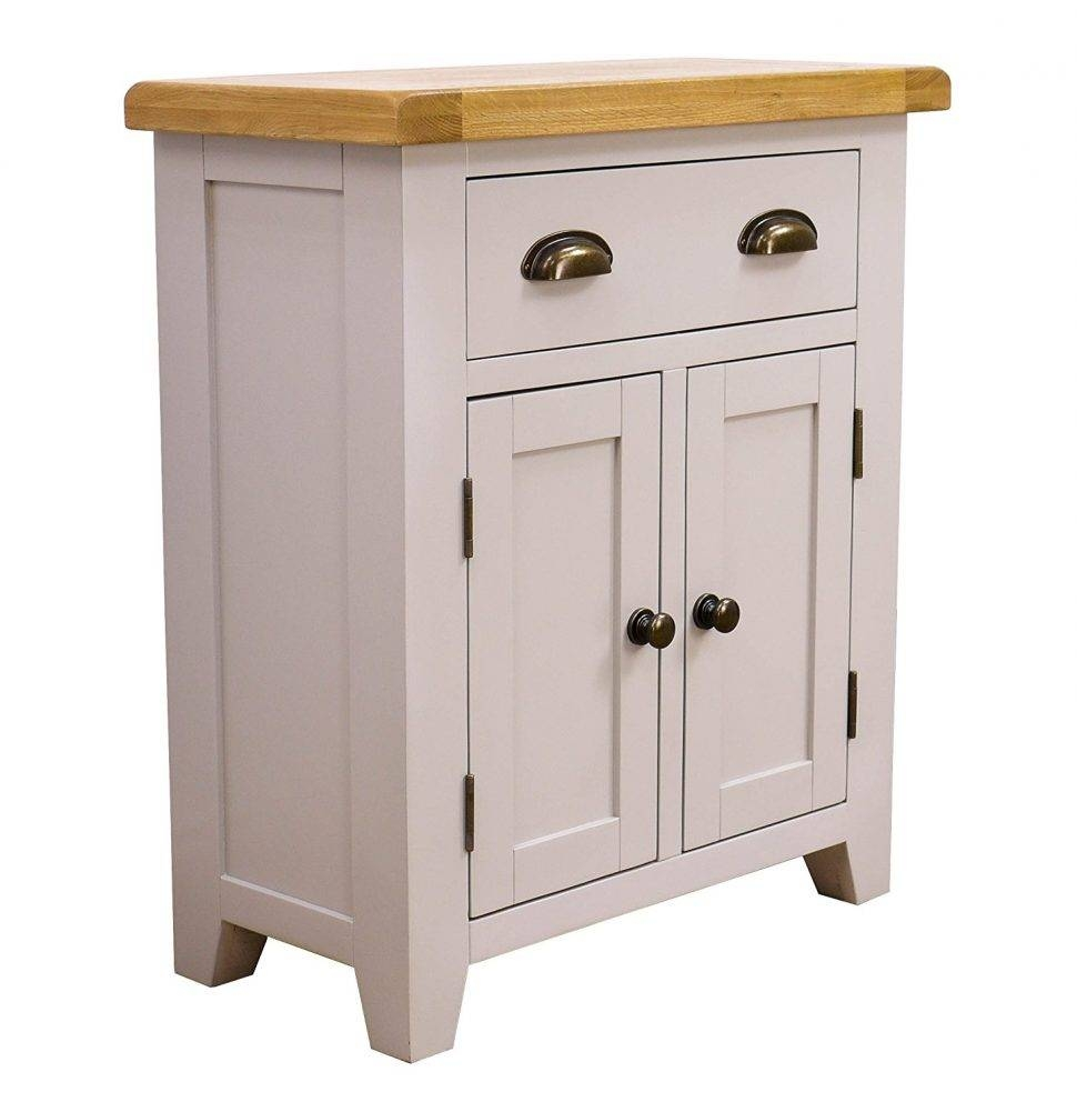 Sideboard : Painted Oak Small Sideboard Doors Drawers Finish White Inside Small White Sideboards (#6 of 15)