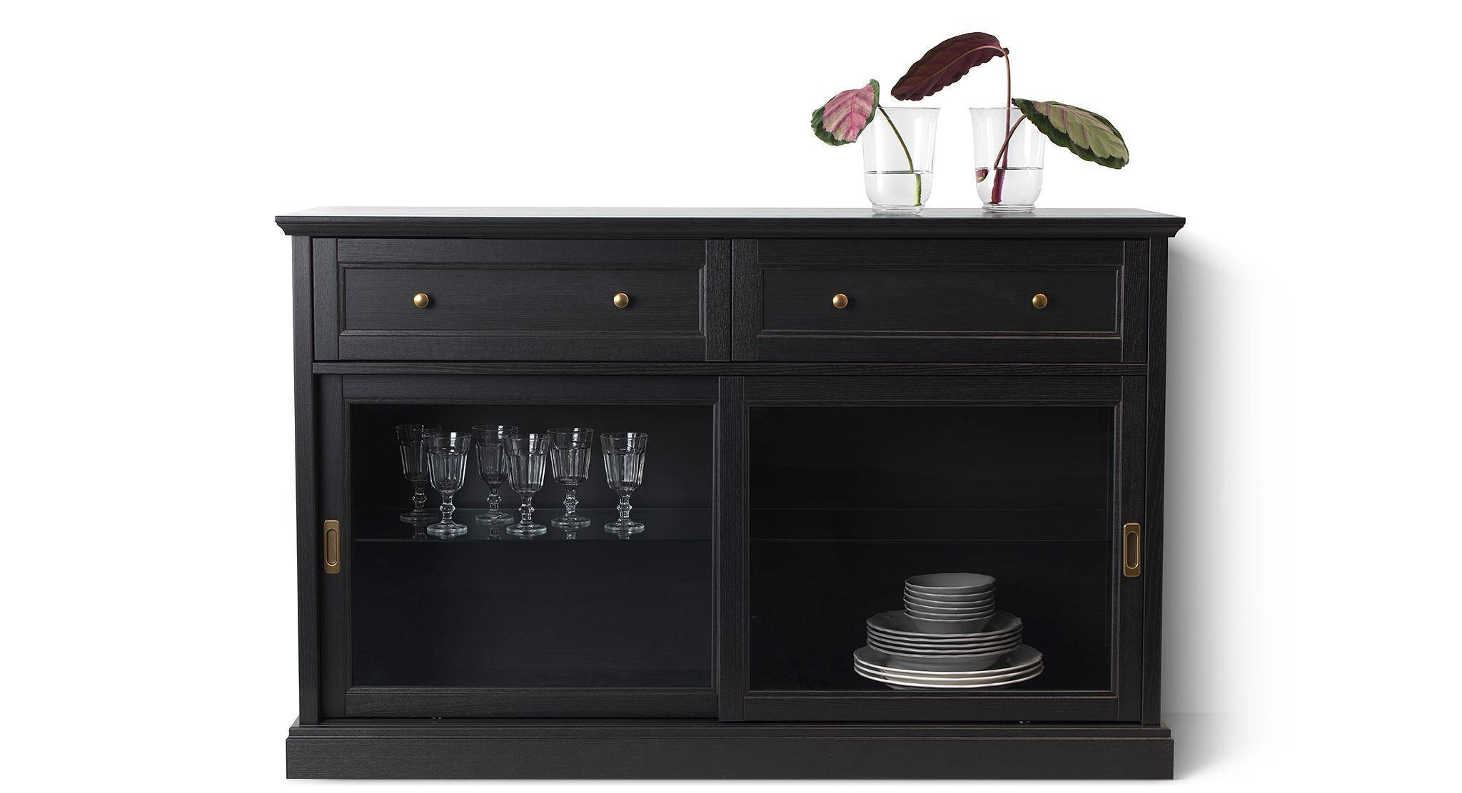 15 best ideas of cheap black sideboards for Sideboard glasfront