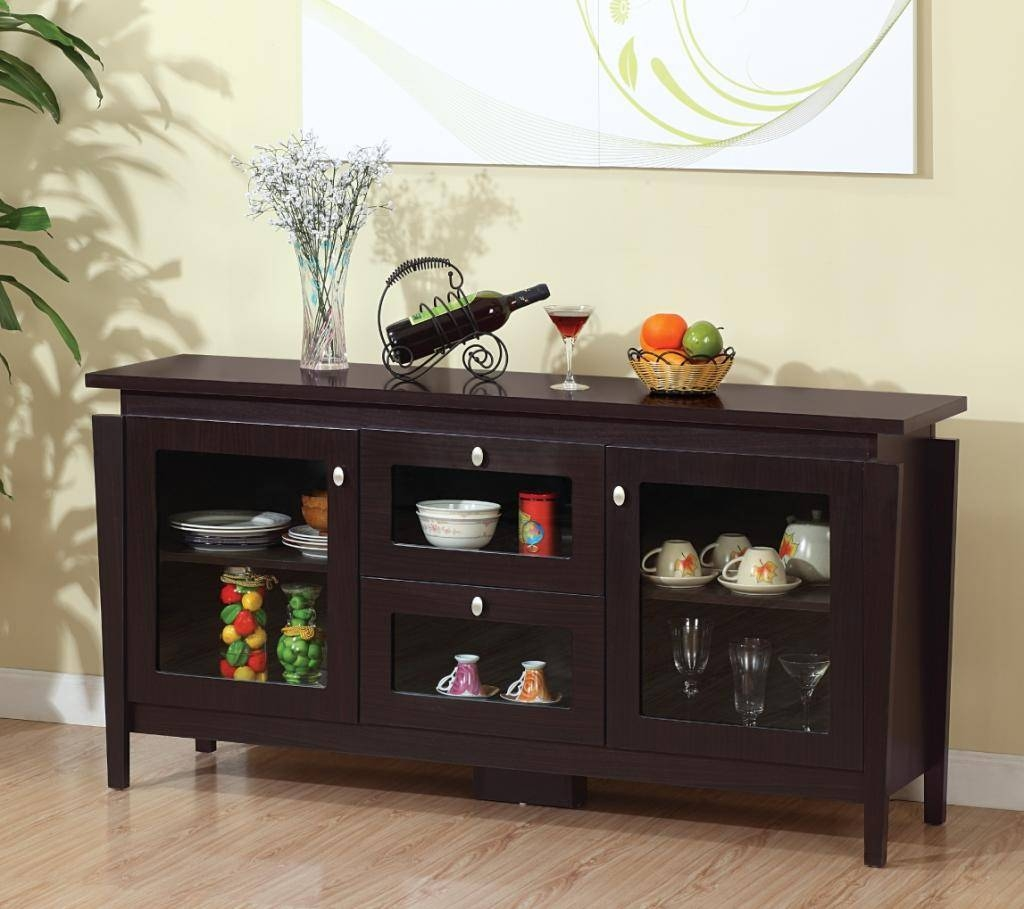 Sideboards: Astonishing Dining Room Buffet With Glass Doors In Sideboards And Buffets With Glass Doors (#13 of 15)