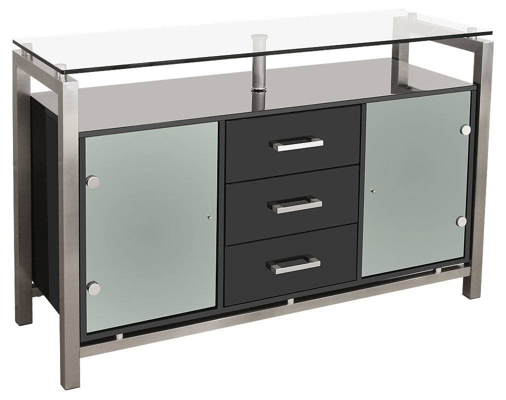 Sideboards: Astonishing Sideboard Cabinet With Glass Doors Modern Inside Black Gloss Buffet Sideboards (#14 of 15)
