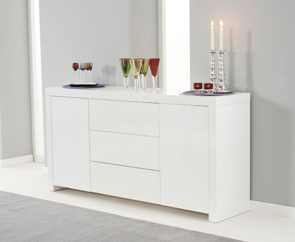 Popular Photo of Cheap White High Gloss Sideboards