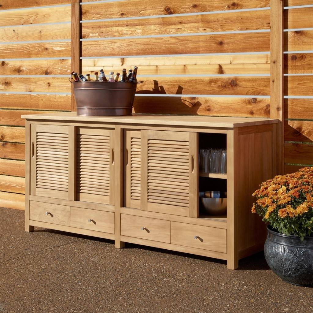 Sideboards: Glamorous Outdoor Sideboard Cabinet Outdoor Serving Inside Outdoor Sideboards And Buffets (View 8 of 15)