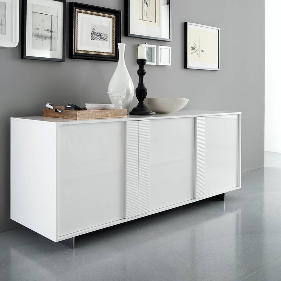 Sideboards: Interesting Modern White Buffet Extra Long Sideboards In Modern White Sideboards (View 2 of 15)