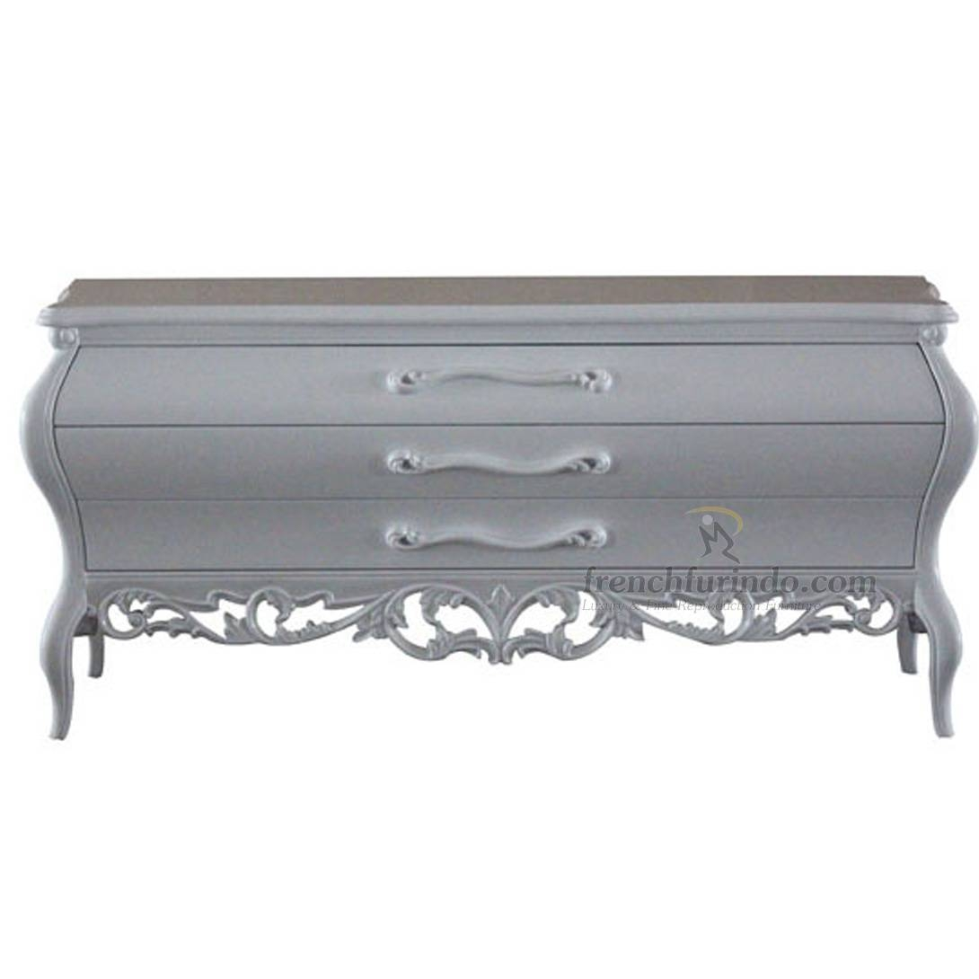 Sideboards | Product Categories | Frenchfurindo Throughout Black And Silver Sideboards (#14 of 15)