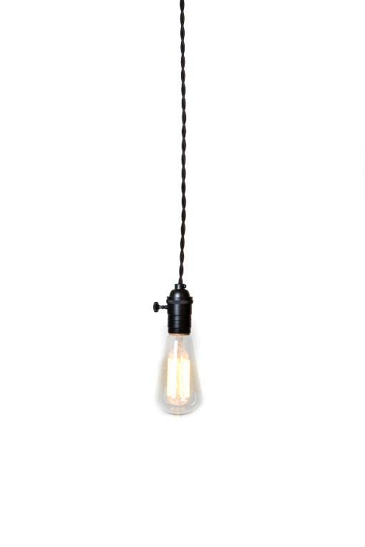 Simply Modern Bare Bulb Black Socket Pendant Light For Bare Bulb Hanging Pendant Lights (#14 of 15)