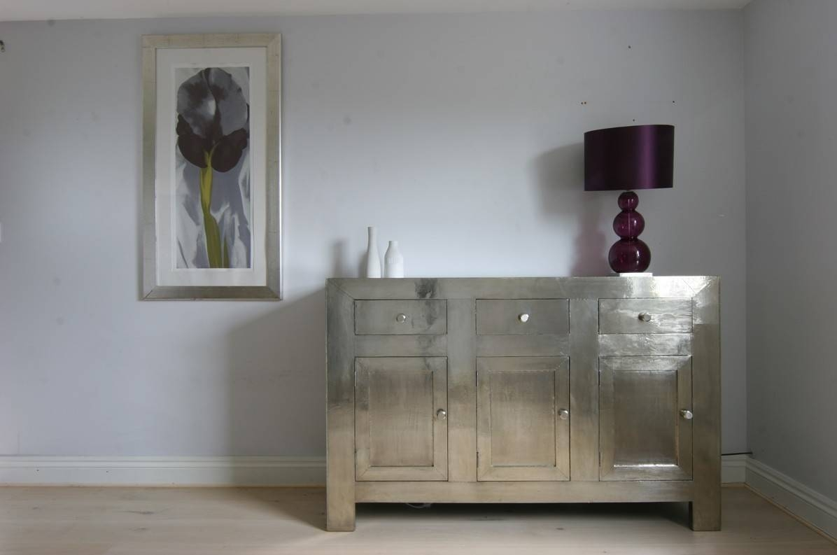 Small White Metal Sideboard | Iris Furnishing In Metal Sideboard Furniture (#15 of 15)
