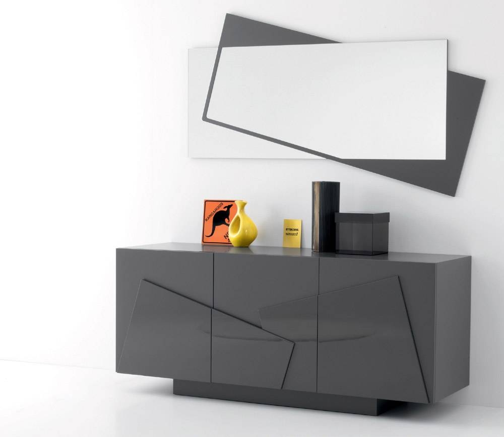 Smart Sideboard & Mirror Intended For Grey Gloss Sideboards (#10 of 15)