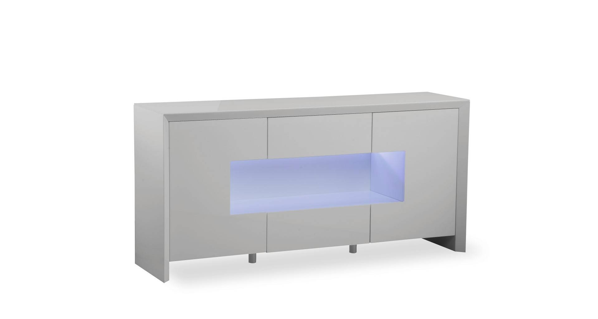 Inspiration about Soho – L.e.d. Display Sideboard – Grey High Gloss With Grey Gloss Sideboards (#6 of 15)