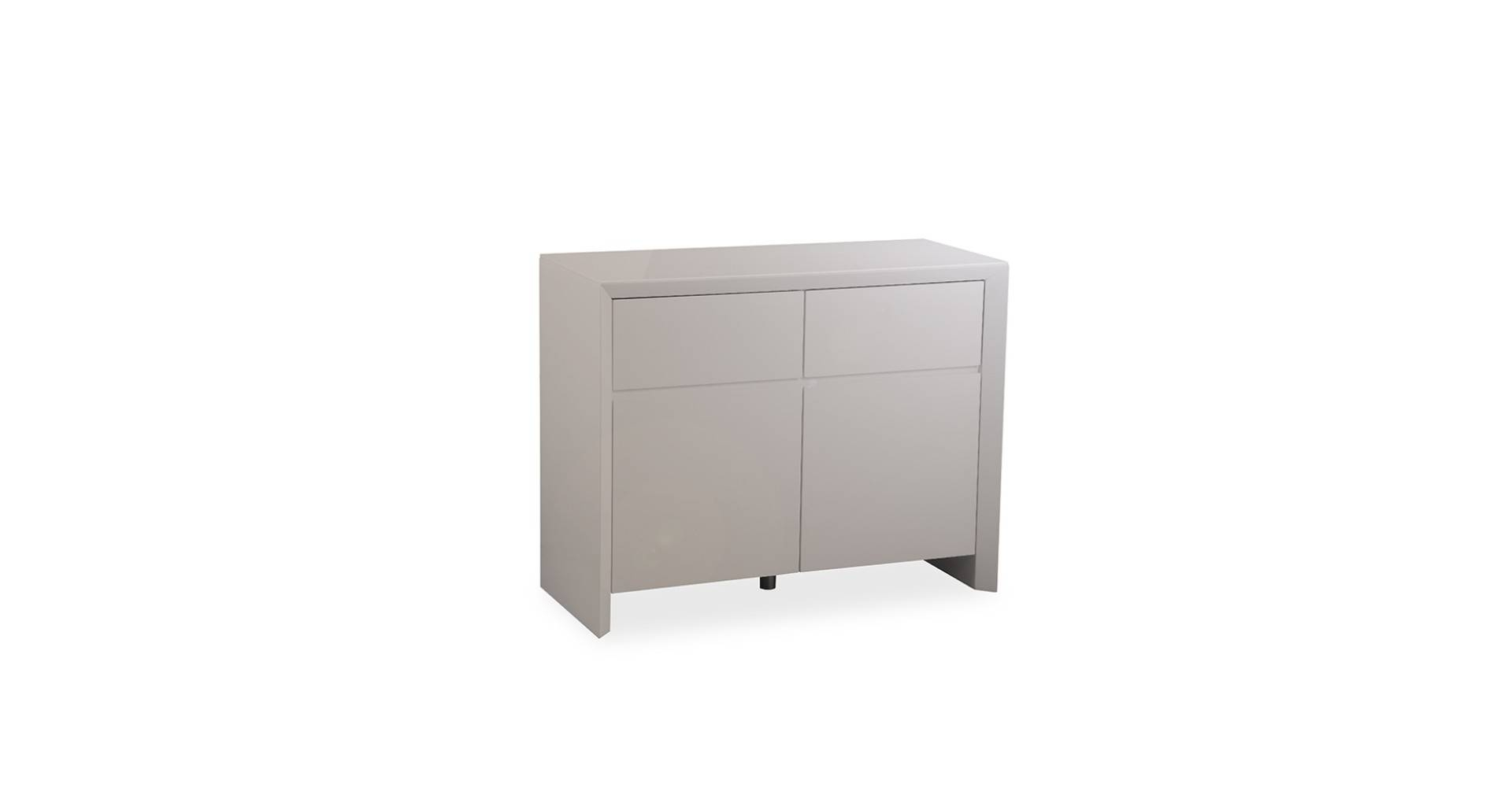 Soho – Small Sideboard – Grey High Gloss Throughout Grey Gloss Sideboards (#12 of 15)