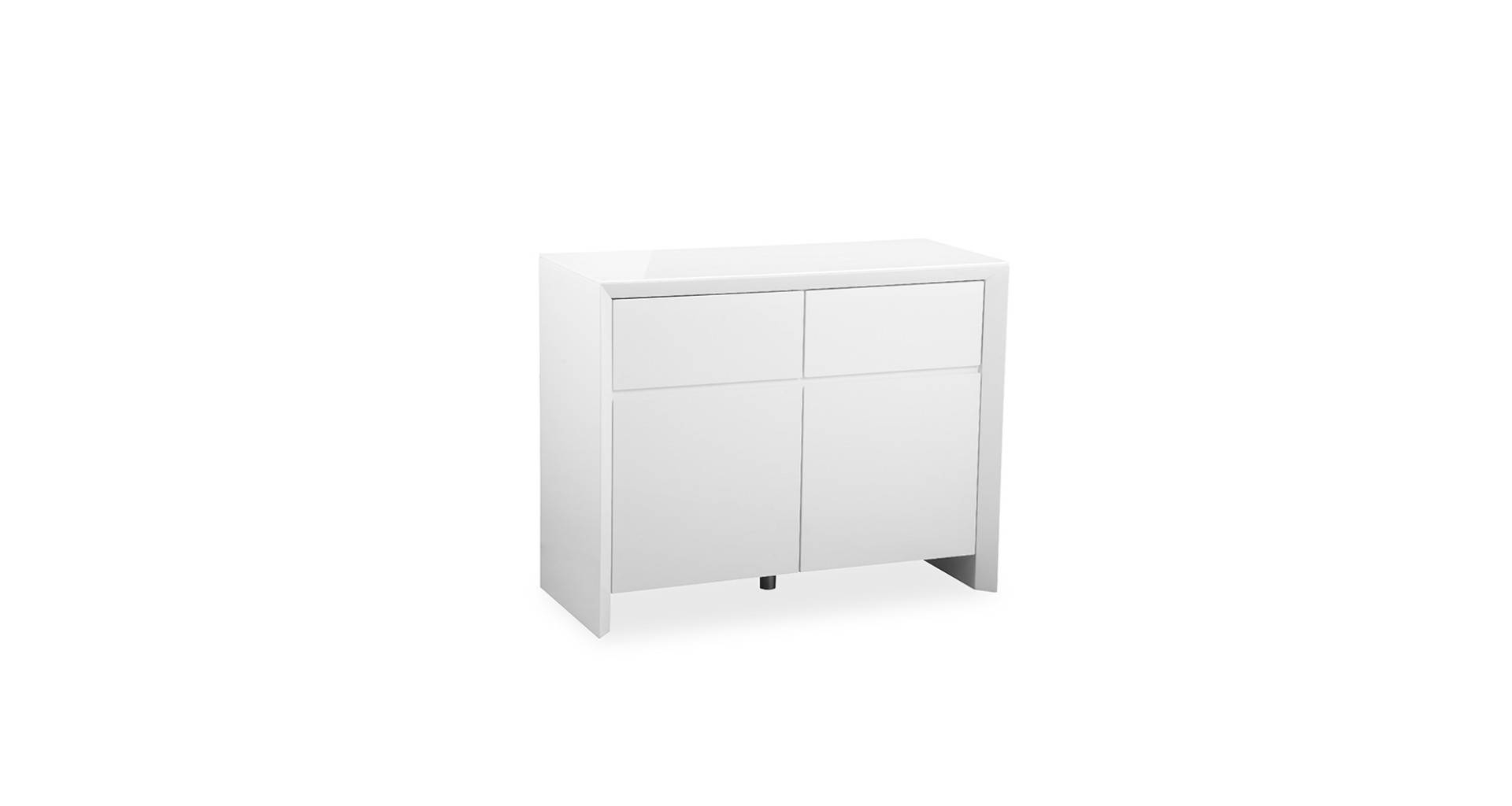 Soho – White – Small Sideboard – High Gloss Intended For Small White Sideboards (#15 of 15)