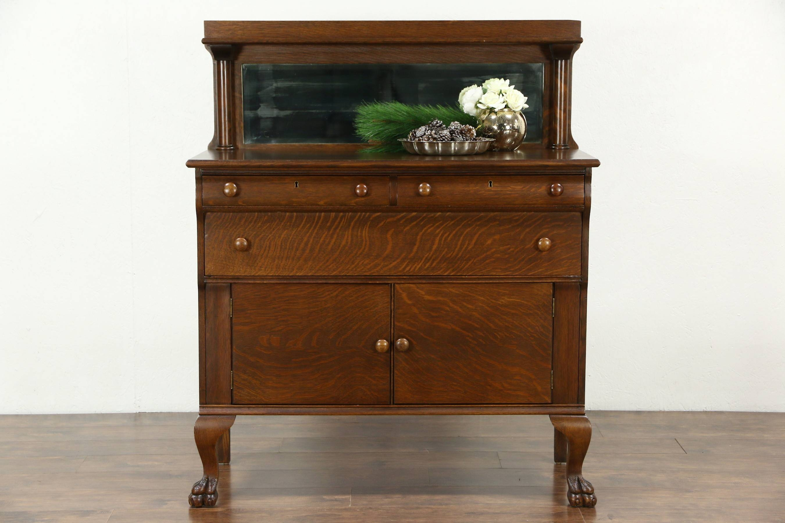 Sold Sideboards, Demilune – Harp Gallery Antiques Intended For Sideboards With Mirror (View 15 of 15)