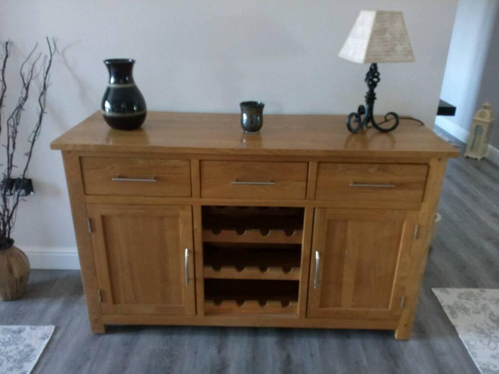 Solid Oak Sideboard And Wine Rack | In Norwich, Norfolk | Gumtree With Oak Sideboards With Wine Rack (#13 of 15)