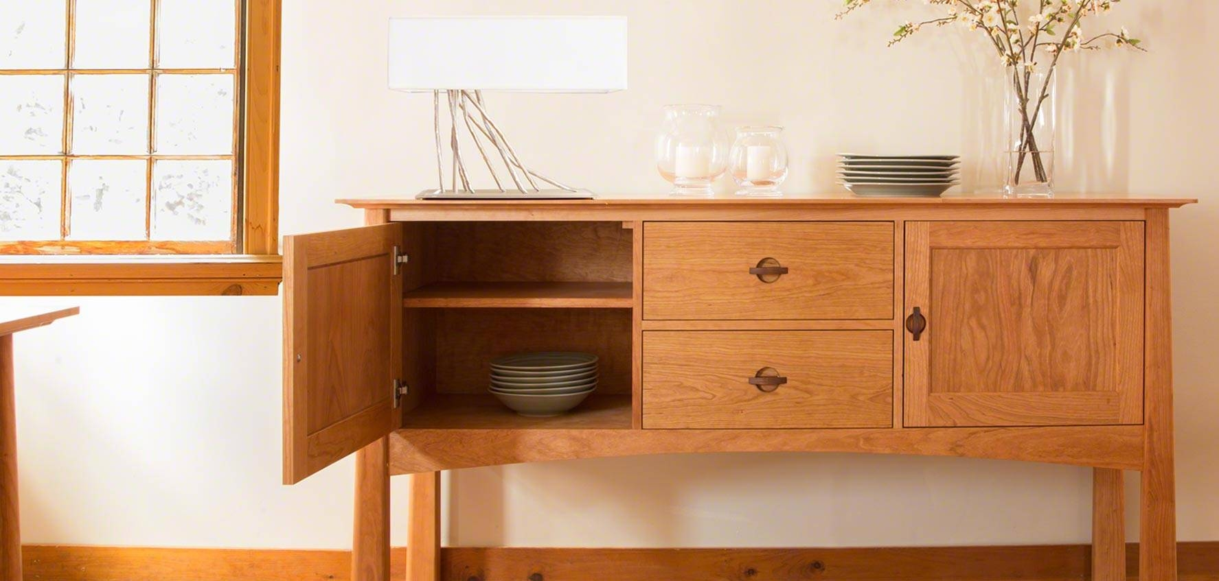 Solid Wood Sideboards, Buffets, & Hutches – Vermont Woods Studios With Regard To Desk Sideboards (#15 of 15)