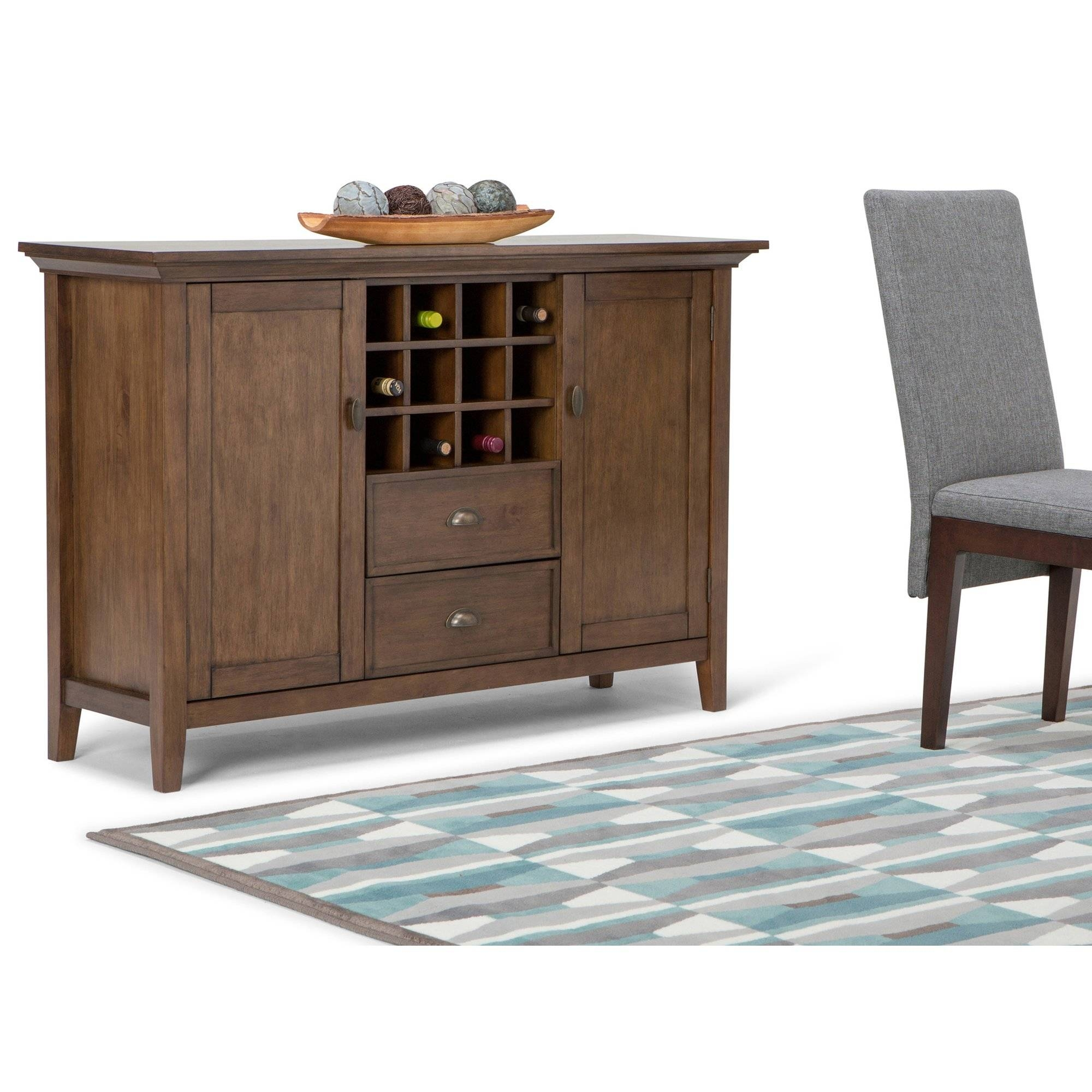 Stag New England Wide Sideboard With Wine Rack Sideboards  (#14 of 15)