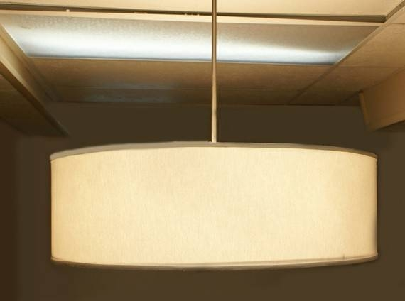 Stunning Drum Shades For Pendant Lights 30 Inch And Larger Drum In Most Popular 30 Inch Pendant Lights (View 14 of 15)
