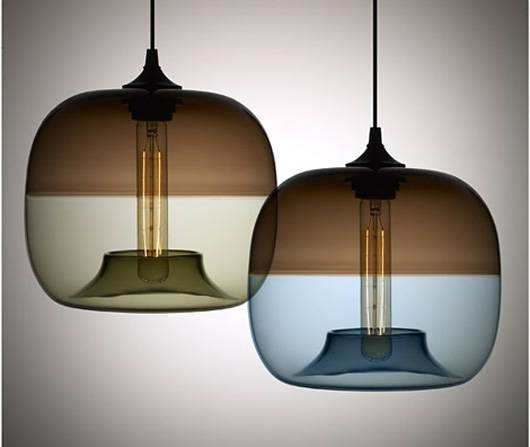 Popular Photo of Contemporary Glass Pendant Lights