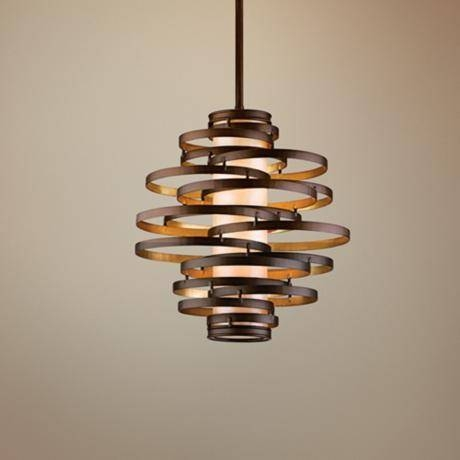 Stunning Small Hanging Light Fixtures Corbett Vertigo Small Pertaining To Latest Vertigo Pendant Lights (#5 of 15)