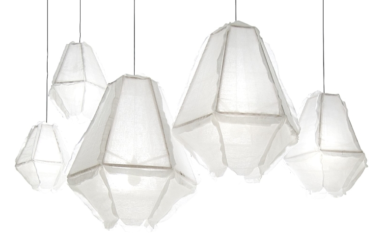 fabric pendant lighting. Style File: Oversized Fabric Lights \u2013 House Of Hawkes Intended For Most Up To Date Pendant Lighting R