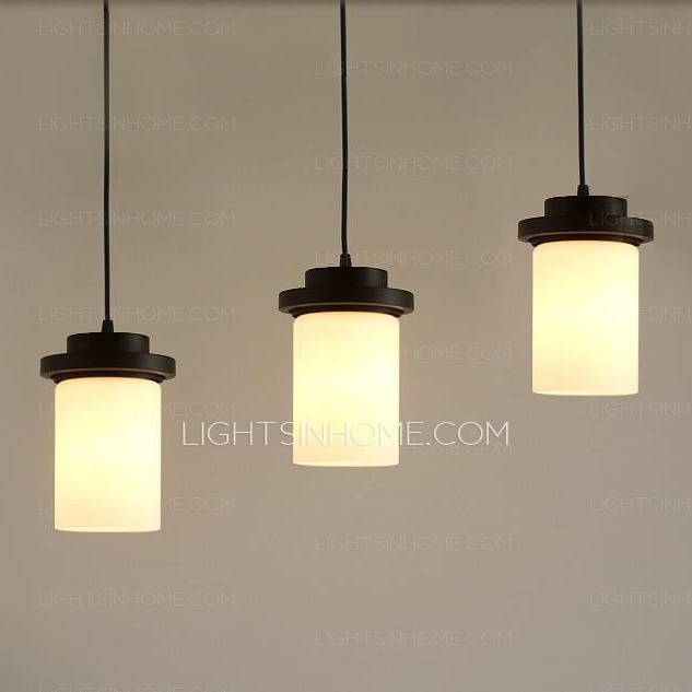 Stylish Simple Pendant Light Simple Wrought Iron 3 Light Modern Inside Latest Stylish Pendant Lights (#15 of 15)