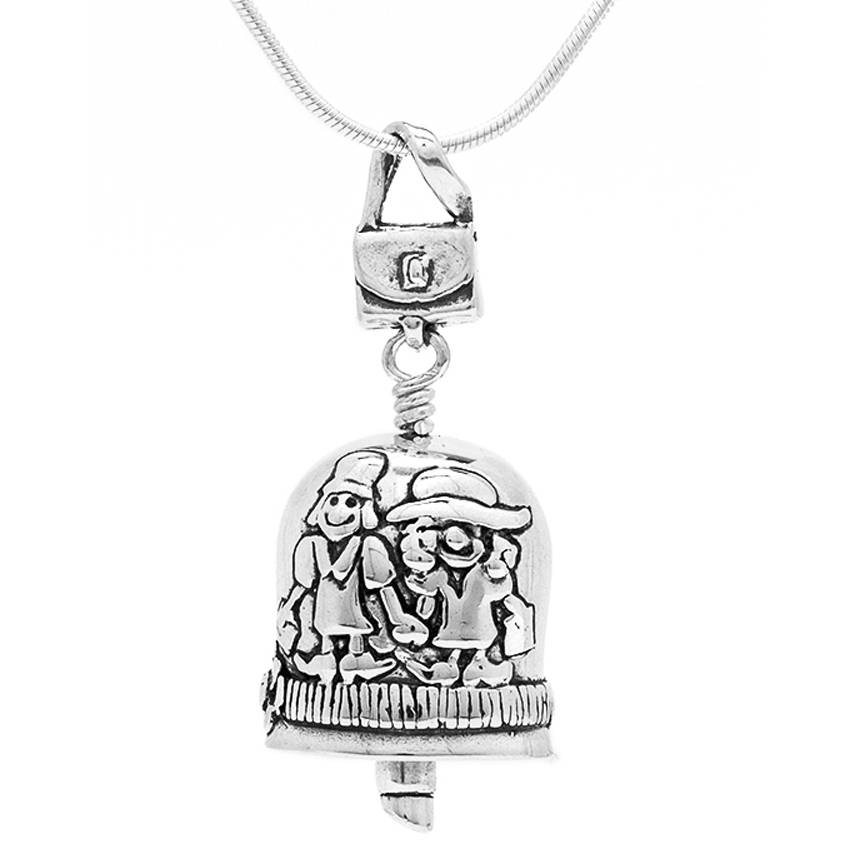 The Bell Collection – Unique Handcrafted Silver Bell Necklaces And Throughout Recent Bell Pendants (#13 of 15)