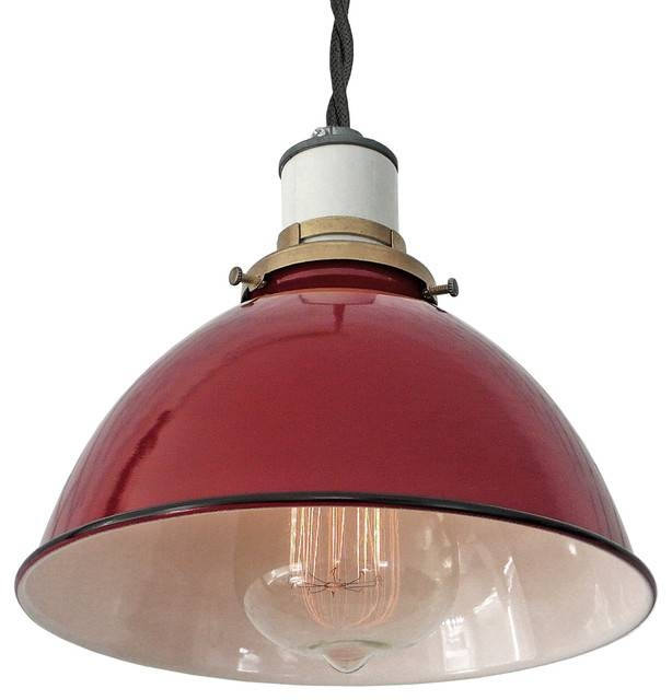 The Sullivan Industrial Lamp – Farmhouse – Pendant Lighting – Pertaining To Most Recent Large Red Pendant Lights (View 4 of 15)