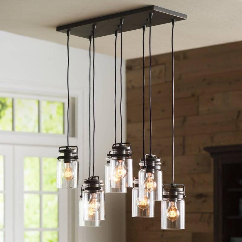 Three Posts Bloomingdale 8 Light Pendant & Reviews | Wayfair With Glass 8 Light Pendants (#15 of 15)