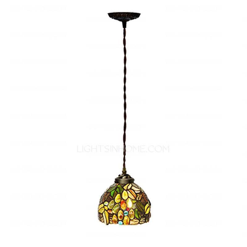 Tiffany Mini Pendant Lights Metal Base E26/e27 In Newest Tiffany Pendant Lights (View 15 of 15)