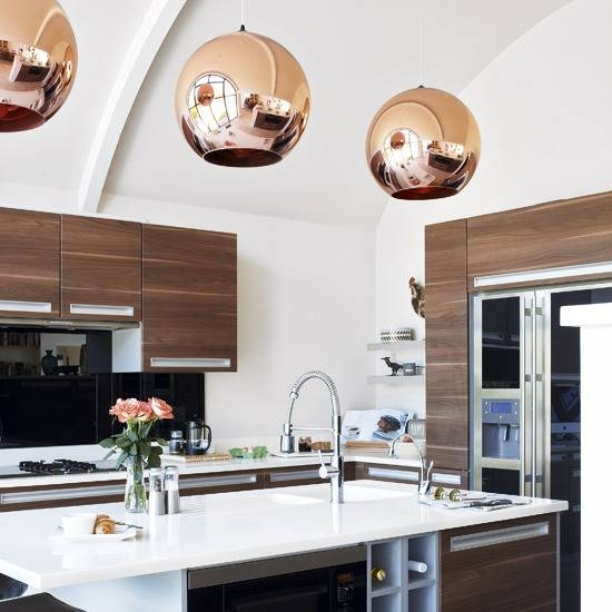 Tom Dixon Copper Shade Pendant – Contemporary – Kitchen – House & Home For Most Recently Released Tom Dixon Copper Shade Pendants (#12 of 15)