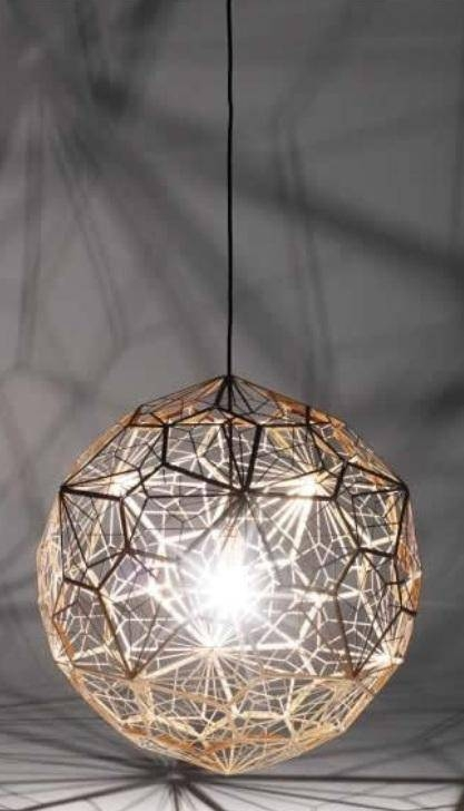 Tom Dixon Etch Light Web Copper Replica Pendant Light Large Pertaining To Latest Tom Dixon Etch Web Pendants (#13 of 15)