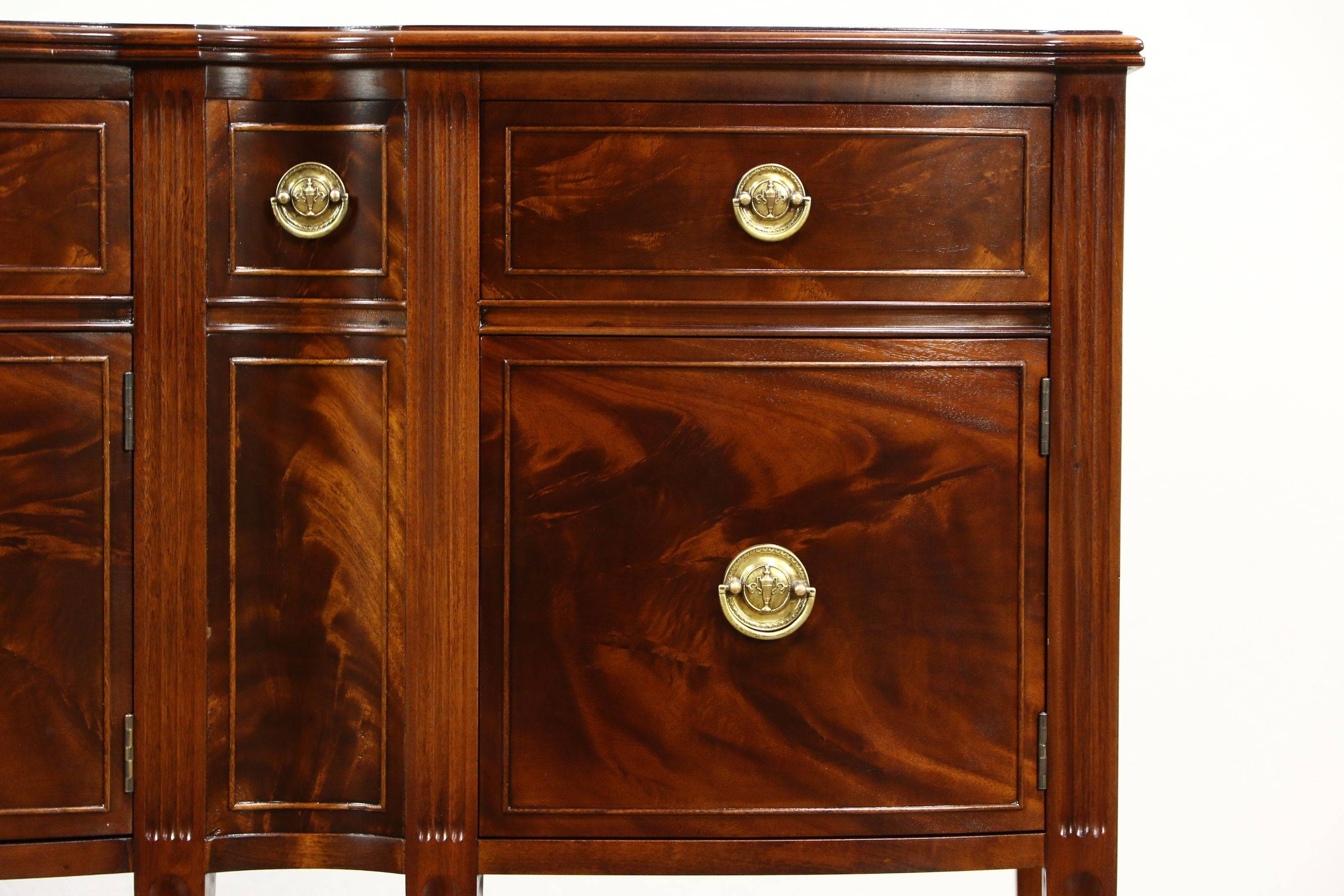 Traditional Mahogany Sideboard, Server Or Buffet, 1930's Vintage Pertaining To Traditional Sideboards (View 13 of 15)
