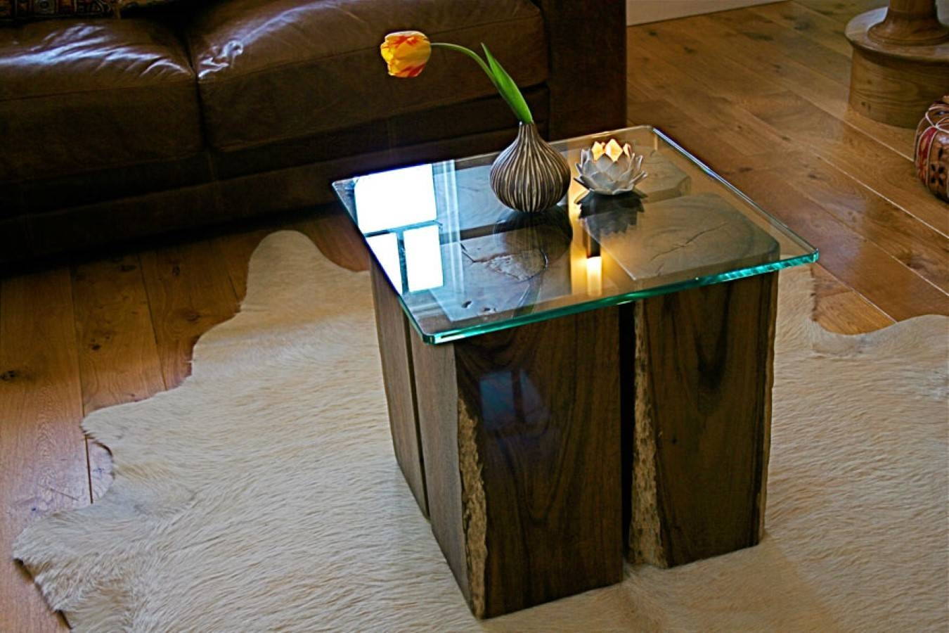 Tree Trunk Coffee Table Glass Top Mattresses Box Springs Bookcases Throughout Glass Top Sideboards (#14 of 15)