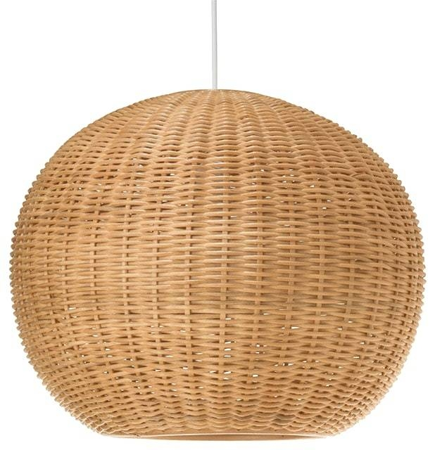 Tropical Pendant Light Fixtures With Wicker Ball Natural Lighting For Latest Ball Pendant Lamps (#15 of 15)