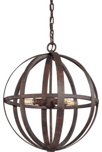 Troy Lighting F2514 Flatiron 4 Light Wrought Iron Pendant Pertaining To Wrought Iron Pendant Lights (View 15 of 15)