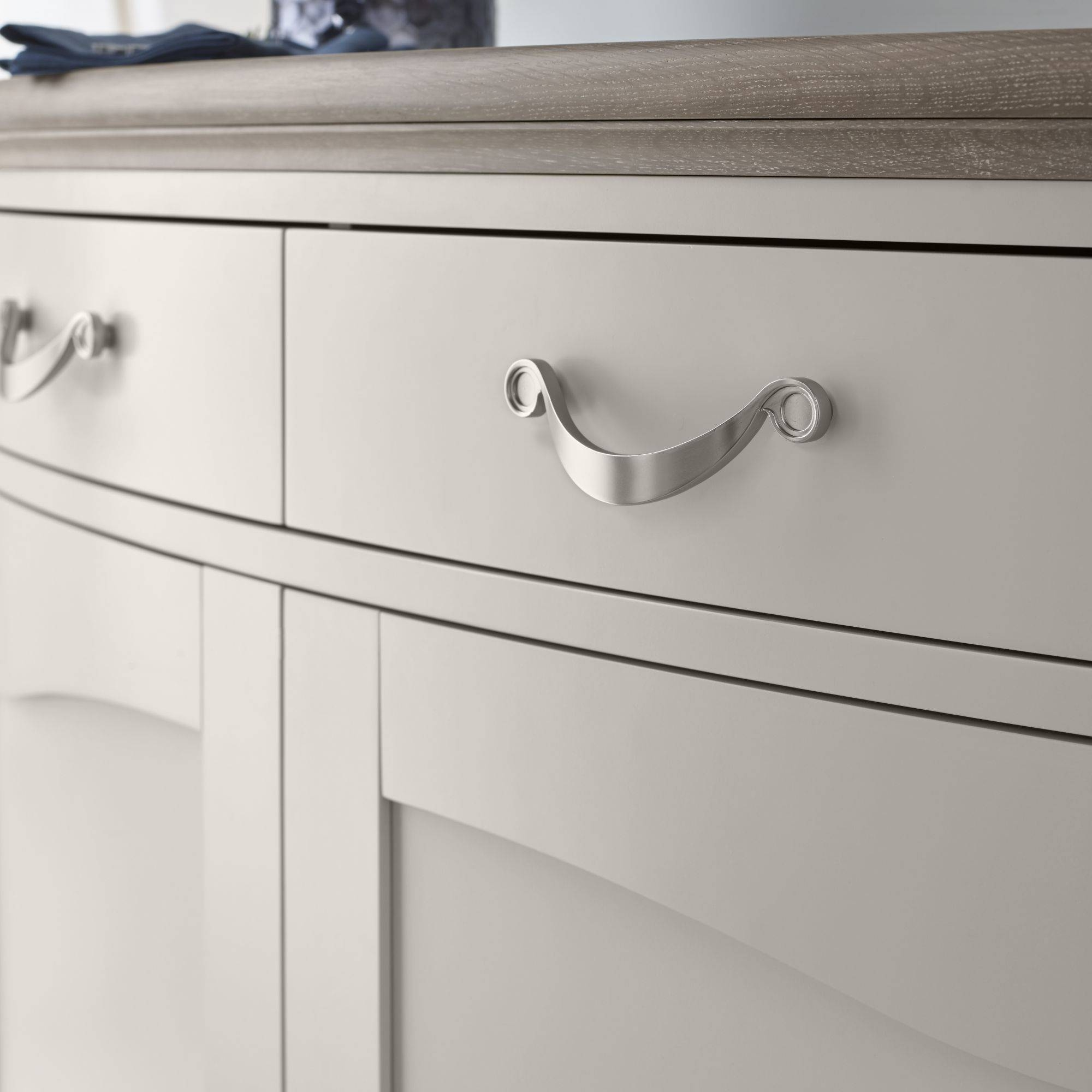 Tuscany Grey Washed Oak & Soft Grey Wide Sideboard In Tuscany Sideboards (#13 of 15)