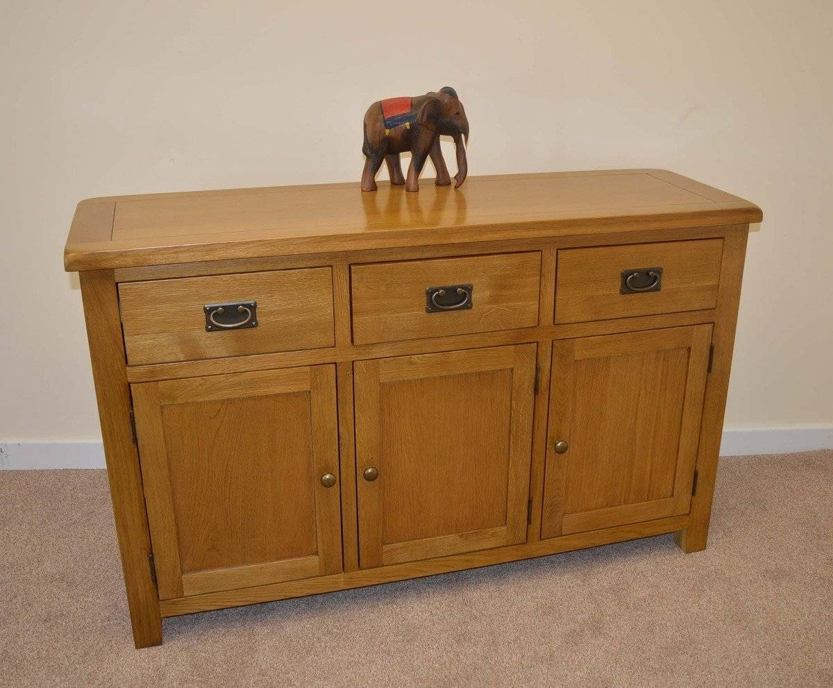 Tuscany Oak 3 Door Sideboard | Tuscany Oak Sideboards | Furniture Intended For Tuscany Sideboards (#15 of 15)