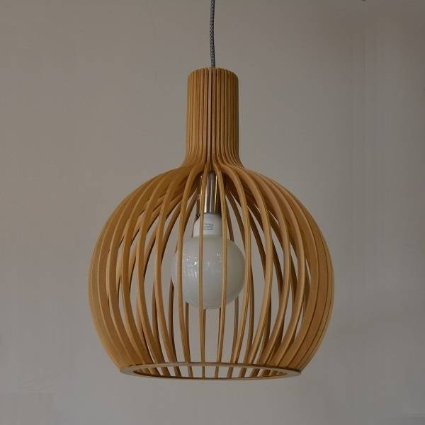Inspiration about Up1001L Wd, Bollé Designer Small Timber Pendant, Davoluce Uge Regarding Most Recent Timber Pendant Lights (#3 of 15)