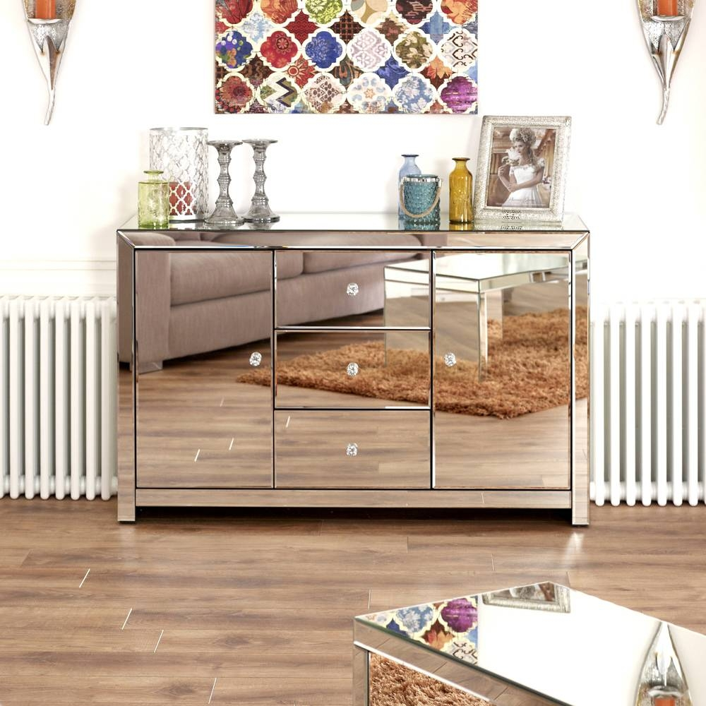 Inspiration about Venetian Mirrored Large Sideboard Regarding Venetian Mirrored Sideboards (#3 of 15)
