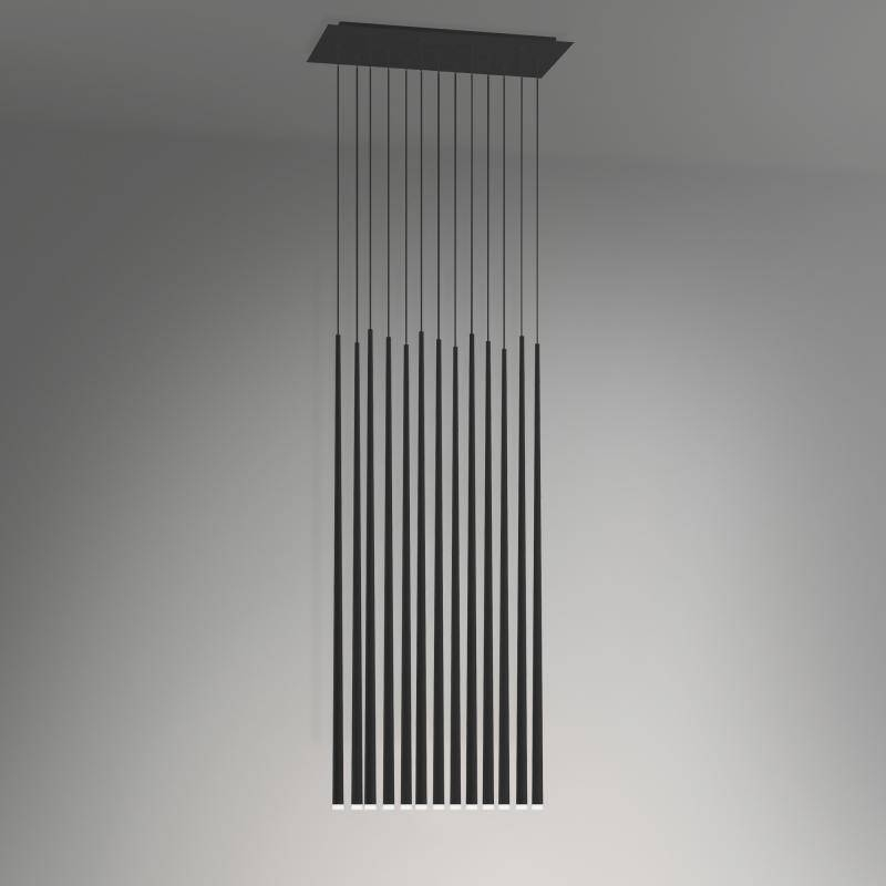 Inspiration about Vibia Slim Led Pendant Light 13 Heads, Rectangular – 093704/1A Pertaining To Best And Newest Vibia Slim Pendants (#12 of 15)