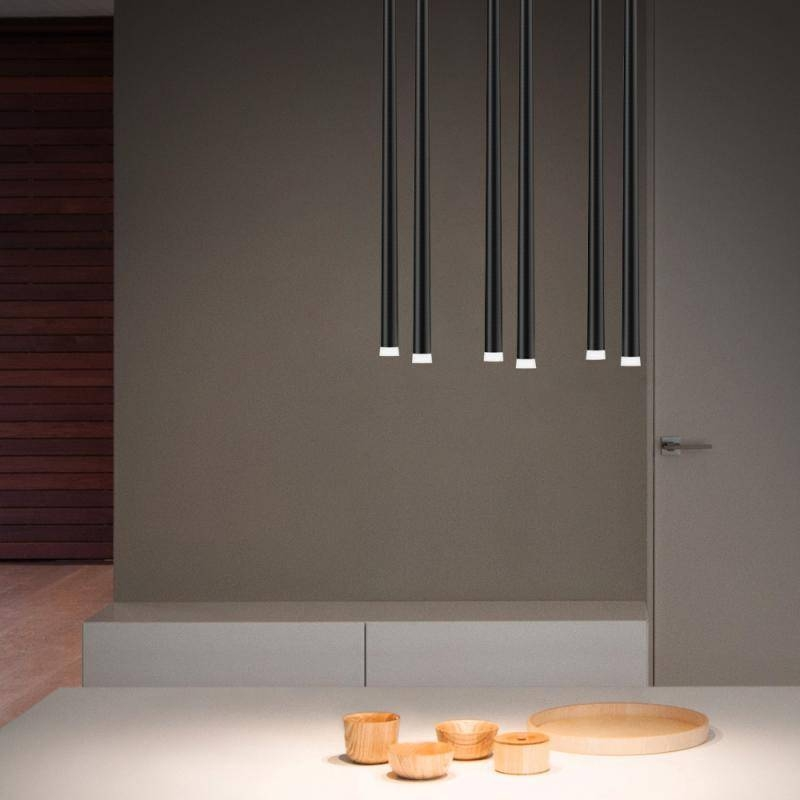 Inspiration about Vibia Slim Led Pendant Light 6 Heads, Rectangular – 093304/1B For Most Recent Vibia Slim Pendants (#11 of 15)