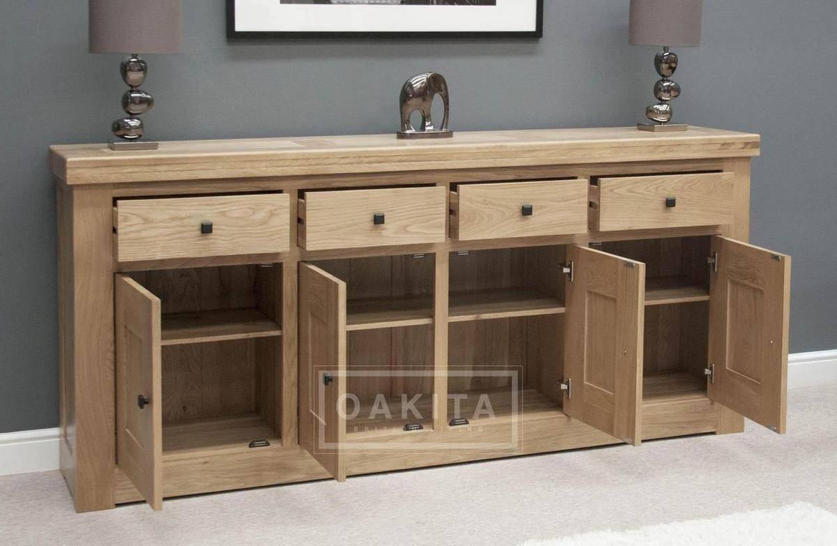 Inspiration about Vienna Extra Large Light Oak Sideboard – Oak Sideboards – Oak Within Large Oak Sideboards (#2 of 15)